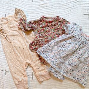 Set of 3 Baby Girl Outfits